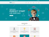 Kidschool – Kindergarten School PSD Template