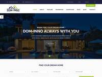 Dom-Inno Real Estate PSD Template is available to sell right