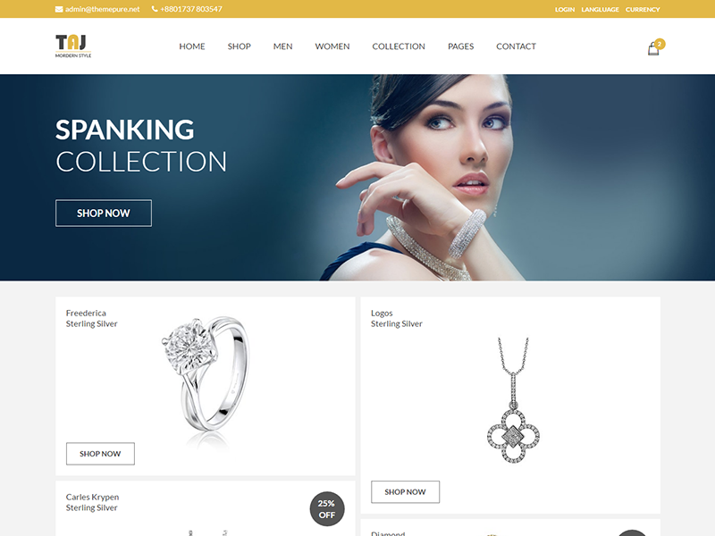 Taj – eCommerce PSD Template fashion store electronics store ecommerce template