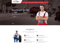 Carspa – Car Wash & Workshop PSD Template   $300.00