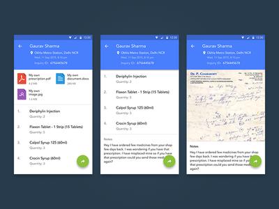 Online Pharmacy App Wip wip simple flat clean app medicine pharmacy material design android