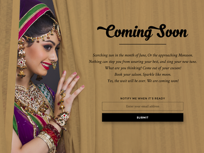 Fit n Fash bride rent cloths india indian onepage website coming soon