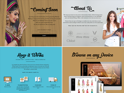 Final version for Coming soon colorful ethnic bride rent cloths india indian onepage website coming soon
