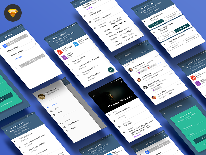 Medicine App download sketch material design android mobile app design design app medicine