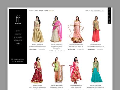 Fitnfash Listing Design ecommerce store shop fab floating ux ui web design rent clothes fashion rental listing