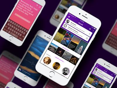 Pulse Dashboard follow status dashboard design app phone camera ux ui android hyperlocal campus streams