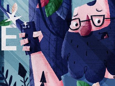 Adatube_ Youtube Banner Design jungle tree texture illustration