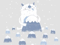 Happy Yeti Illustration