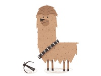 Chewpaca the Alpaca Chewbacca