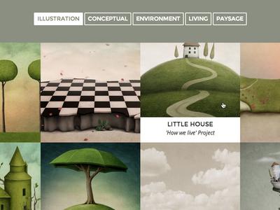 Flights - Grid Portfolio web website portfolio grid filtrable wordpress themeforest theme web design template showcase page