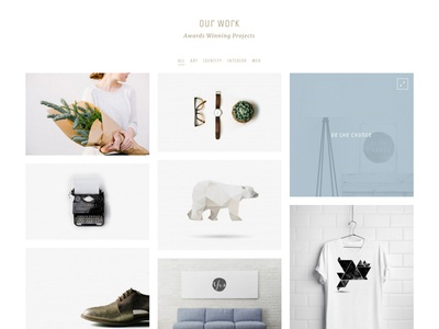 Yaga  - Portfolio hover layout portfolio theme wordpress