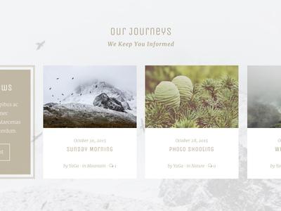 Yaga - Recent Posts winter mountains flexbox layout recent posts theme wordpress