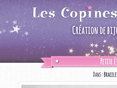 Thalie - creative jewelry  html web design header star gallery ribbon site portfolio girly pink css wordpress