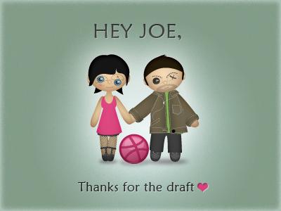 Thanks thanks draftee invitation dribbble draft