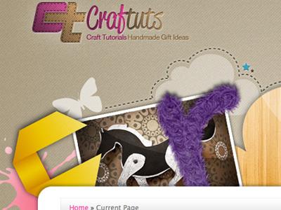 Craftuts 1 craft web design header collage composition typography