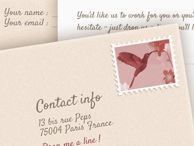 3D contact form 3d css3 contact form envelope texture