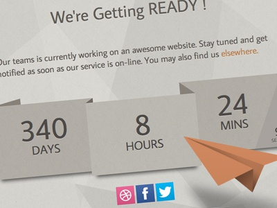 Origami Soon coming soon themeforest countdown timer origami