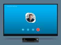Skype for Xbox Calling Screen