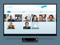 Skype for Xbox People Section