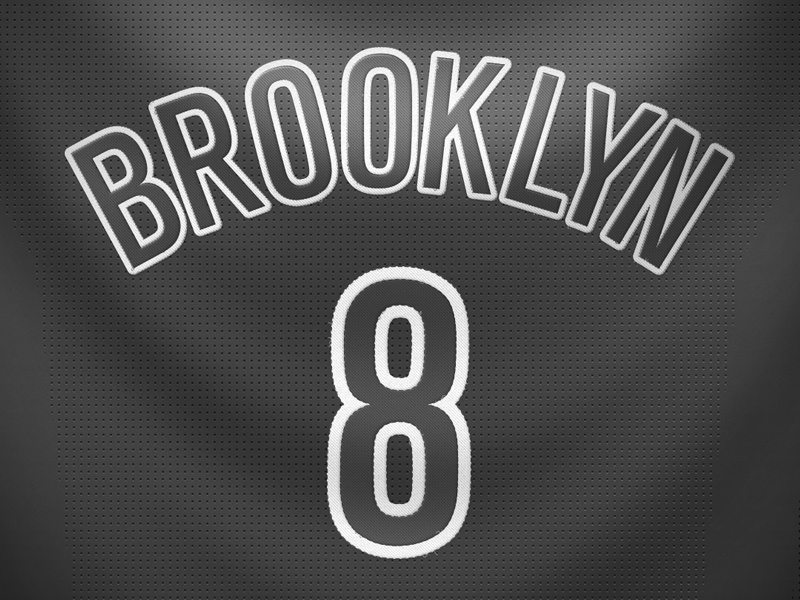 Brooklyn Nets Christmas Day Jersey By Robert Cooper