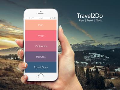 Travel2Do mobileapp uxdesign track travel plan adobexd travelapp