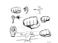 Fight study sketches