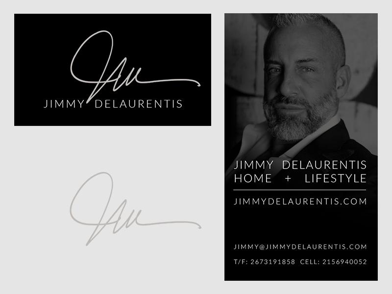 Jimmy DeLaurentis Business Card adobe photoshop design graphic lifestyle home interior design business card