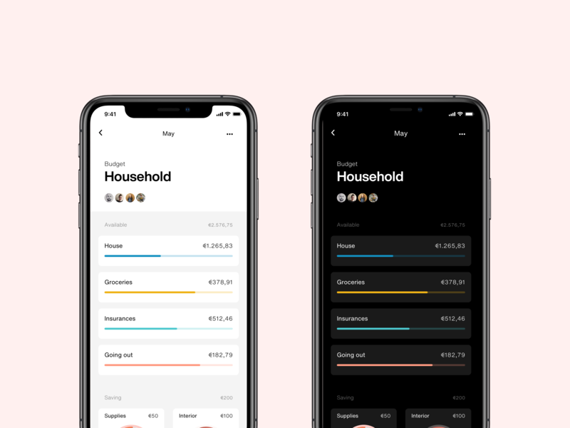 dark mode personal finance minimal app mobile helvetica now personal project finance dark mode
