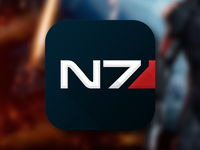NS7 Icon n7 mass effect fan art icon ios7 apple application bioware shepherd