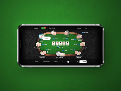 Poker App With A Social Twist portfolio ux user interface mobile ios iphone interface app application design ui