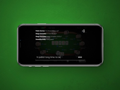 Poker App Players Communication mobile icon iphone interface ios gui application app ux ui