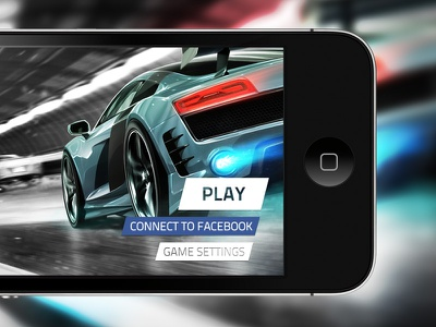 Landing Screen For A Race Game ui gui car auto race racing drag