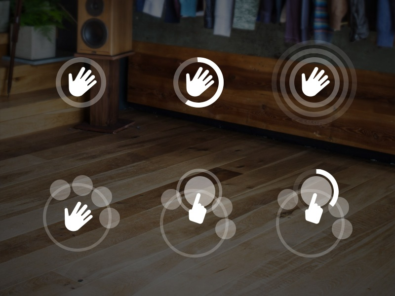 Gesture Sequence to Call For Modal Menus user interface ui ux user experience fashion mirror magic magic mirror gesture kinect