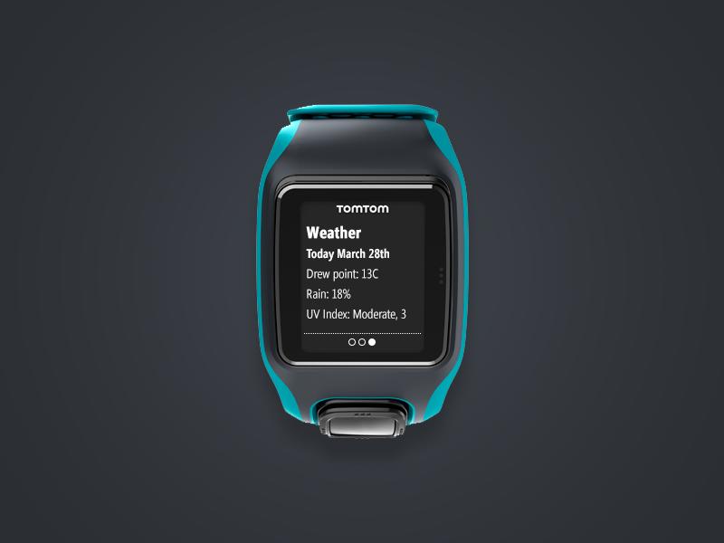 Tomtom Multisport Smartwatch - Notification Screen notification user interface ui activity sport gps tomtom watch wearables