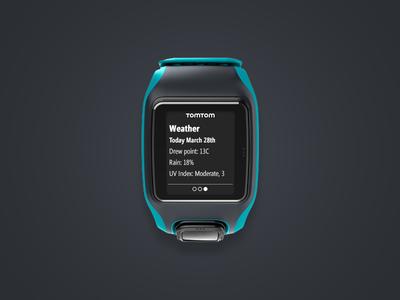 Tomtom Multisport Smartwatch - Notification Screen notification user interface ui activity sport gps tomtom watch wearables