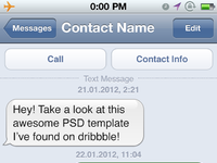 freebie ios sms gui template by alexey chistyakov dribbble dribbble