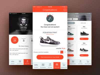 SneakerStand ios app auction ecommerce sneakers