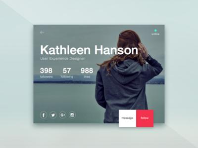 User Profile Concept daily ui user profile profile user ux ui