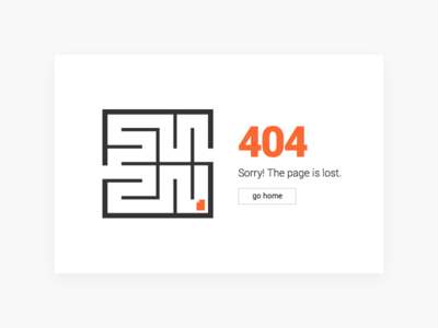 404 Lost Page Concept 404 page clear clean minimal