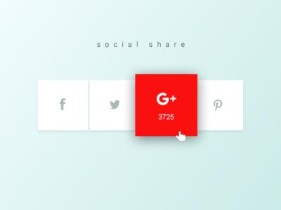 Social Share Concept social share sharing ui minimal clean share social