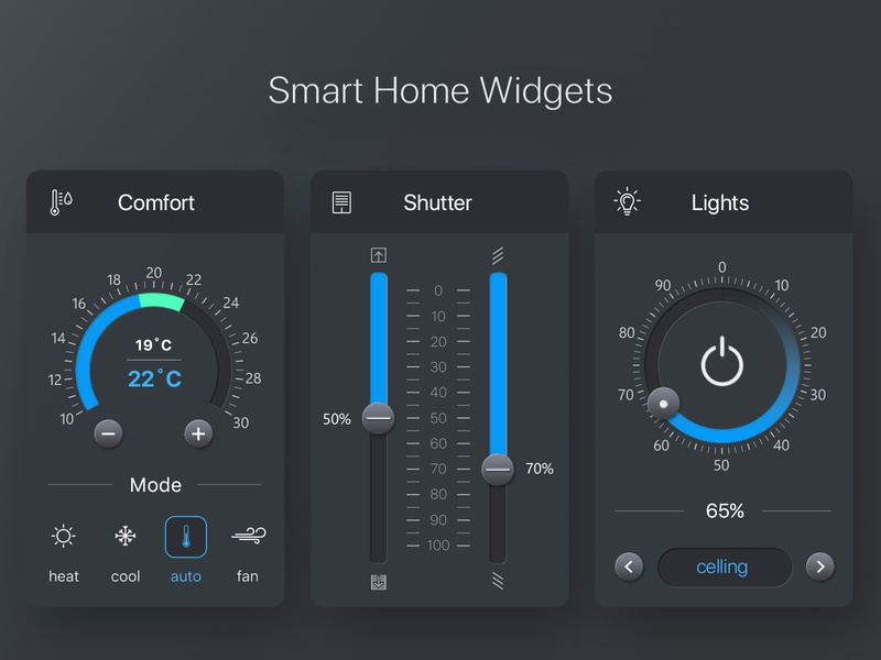 Smart Home Widgets Dark Theme