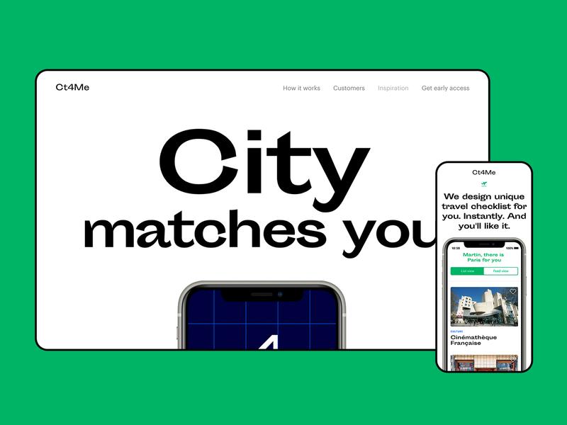 Ct4Me travel app screens guide logo travel app design web design website travel app ui