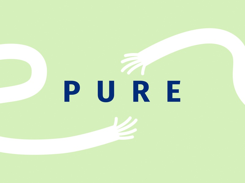"""Pure"" sanitizer logo sanitizer packaging москва moscow логотип лого identity emblem logo branding"