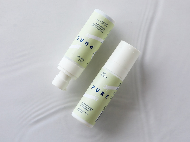 """Pure"" sanitizer bottles hands moscow sanitizer packaging package design package логотип лого emblem identity logo branding"