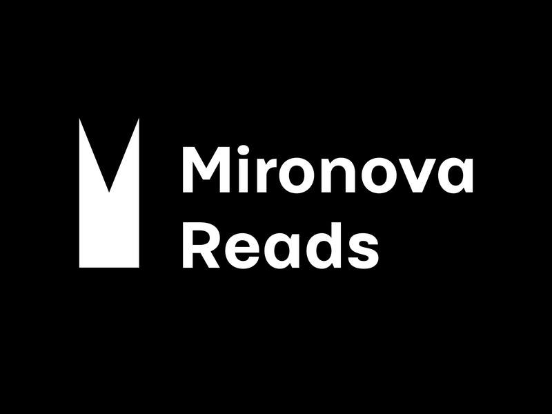 """Mironova reads"" blog about books logo design logodesign logotype logos логотип лого branding logo blog books"