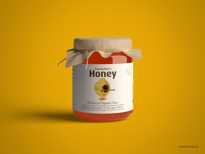Sundarban Honey Label Design minimalistic product packaging product label label design honey