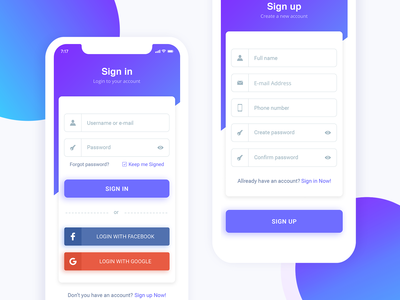 Sign Up Page Freebie
