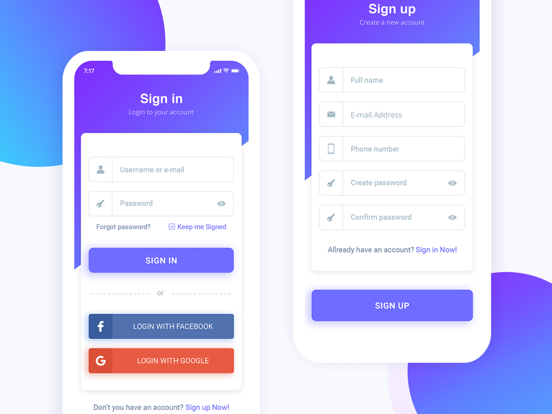 Download Sign Up Page Freebie