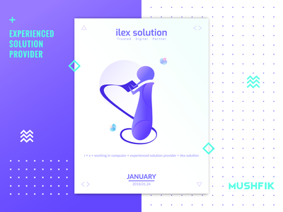 i Logo Mark For illex Solution i mark poster branding vector app icon design mark icon logo gradient