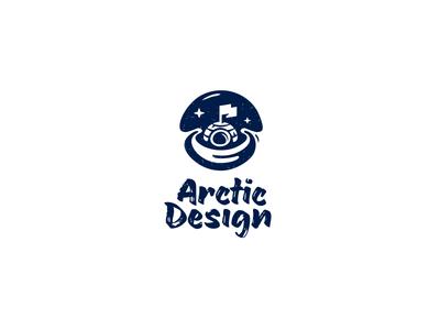 Logo for Arctic Design pole south logo design igloo arctic